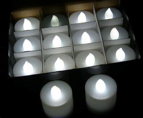 Led Tea Lights Bulk by Lot 100 Battery Led White Flickering Tea Light