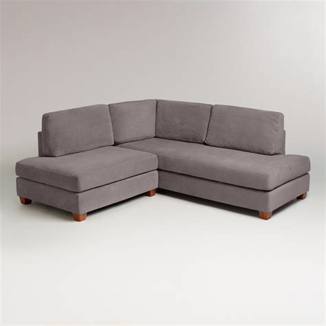 charcoal sectional sofa charcoal wyatt sectional sofa world market
