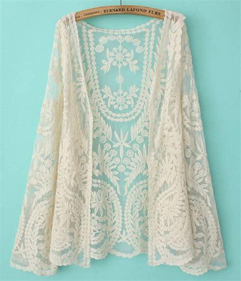 Lace Cardigan beige sleeve lace cardigan blouse abaday