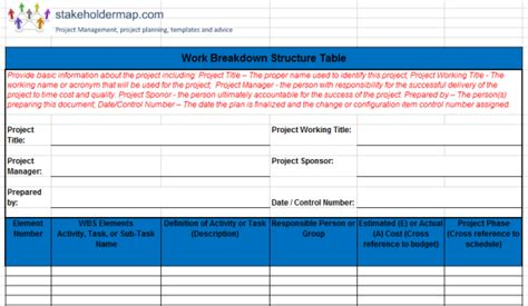 wbs template excel map element html phpsourcecode net