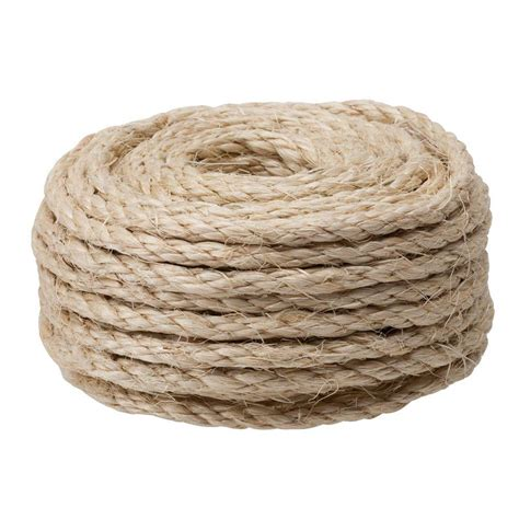crown bolt 1 4 in x 100 ft sisal rope 65134