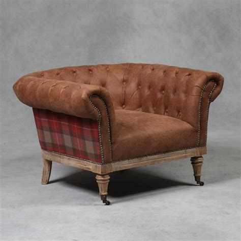 chesterfield armchairs tartan chesterfield armchair at smithers of stamford