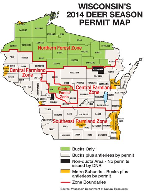 wi dnr land map wisconsin deer forecast for 2014 fish