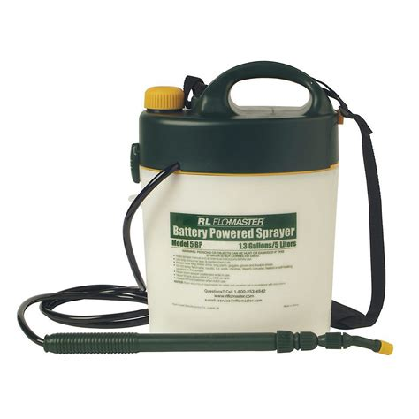 rl flo master bp  gal battery powered sprayer