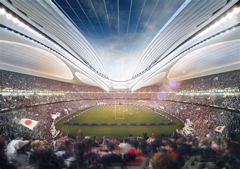 designboom zaha hadid japan new spaceship stadium for tokyo s 2020 olympics
