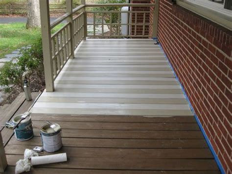 porch and patio paint how to paint a wood deck or front porch we did subtle