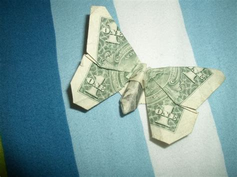 Paper Money Folding - butterfly oragami gift ideas