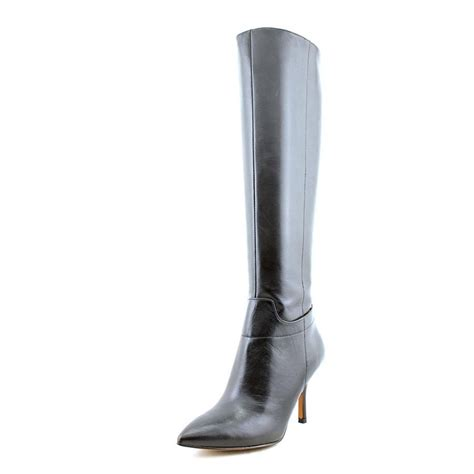 Nine West Getta Women Leather Black Knee High Boot Boots