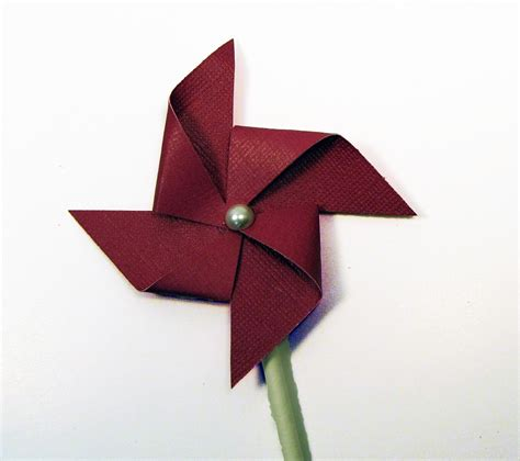 A Paper Pinwheel - a pinwheel tutorial the easiest a subtle revelry