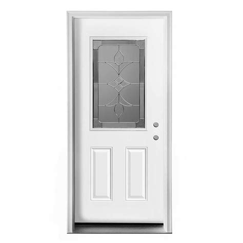 Pre Hung Exterior Door New Concept Exterior Doors Pre Hung Steel Olympia Collection White Pre Finished Left