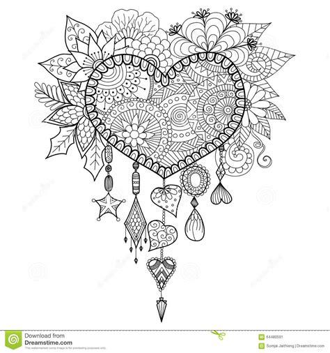 Herzform Blumentraumf 228 Nger F 252 R Malbuch F 252 R Erwachsenen Coloriage Coeur Mandala Fleurs Et Nature L