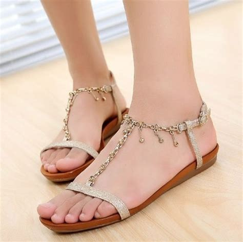Sandal Nyaman Sepatu Sandal Wanita Nyaman Casual Flat Silang Abu Abu berbagai jenis sepatu wanita mall indonesia