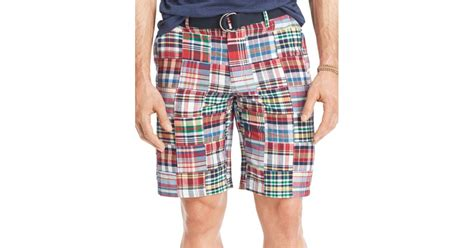 Patchwork Madras Shorts - izod s madras patchwork flat front shorts in for