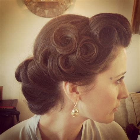 best 25 pin curl updo ideas on retro updo rockabilly updo and victory rolls updo