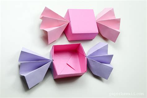 Origami For A - origami box lid paper kawaii
