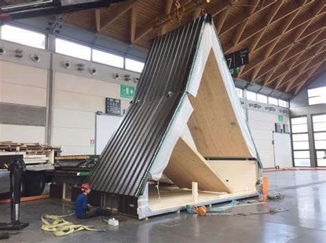 a frame building foldable prefab a frame cabin by madi in italy