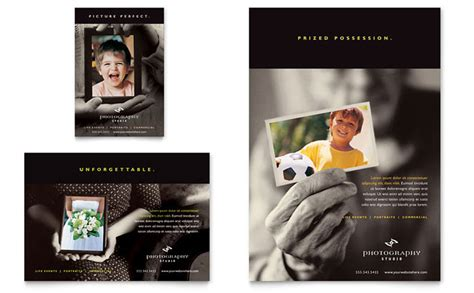 photography brochure templates free photography studio flyer ad template design