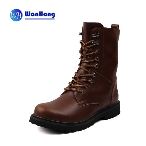 express mens boots mid calf boots fashion shoes rubber boots lace up non