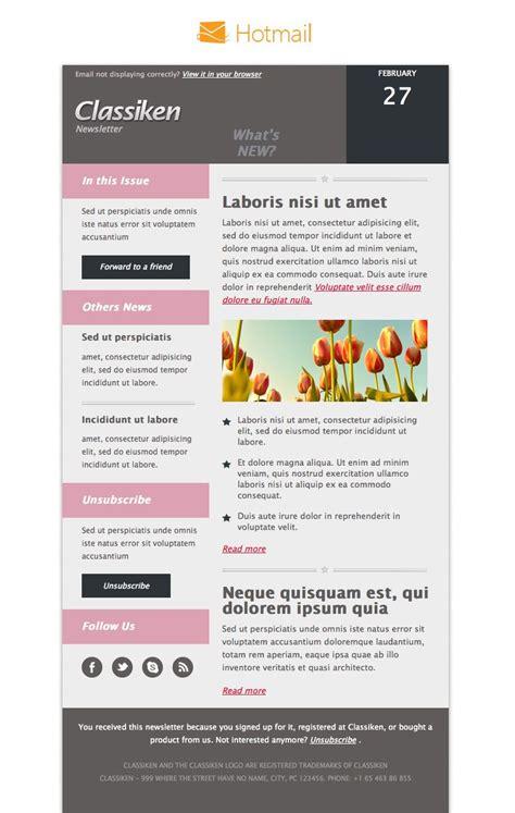 Classiken Html Newsletter Template E Mail Templates Pixeden Digital Newsletter Templates Html Newsletter Templates Free