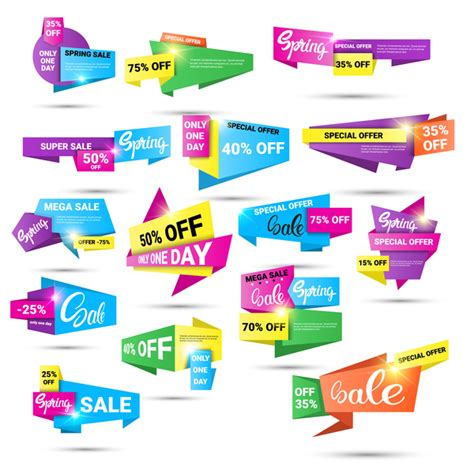 Origami Special - origami special offer labels vector vector label free