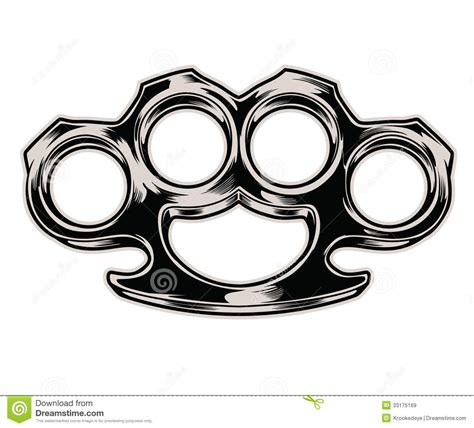 brass knuckles stock vector illustration of gear danger