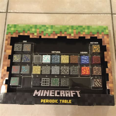 minecraft periodic table of elements minecraft periodic table of elements blocks in box ebay