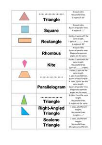properties of shapes quadrilaterals and triangles by