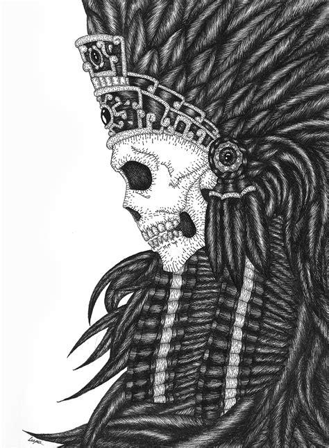 imagenes calaveras aztecas luis liz 225 rraga guerrero azteca
