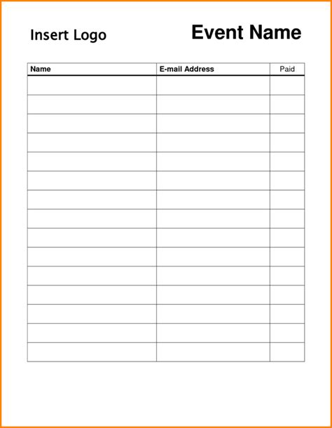 simple sign up sheet template sles vlashed