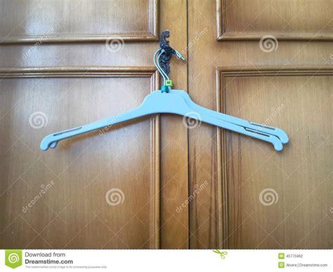 Closet Door Hanger Clothes Hanger Empty Stock Photo Image 45775962