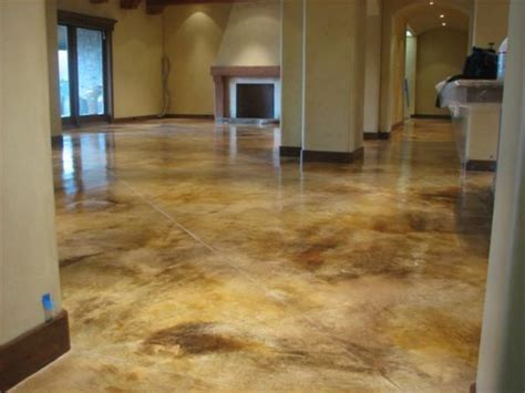 concrete floor house   how to stain concrete floors in