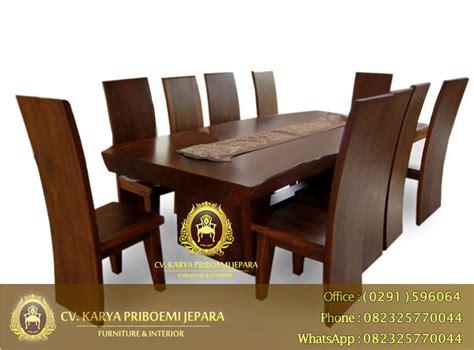Meja Makan Solid Wood meja makan solid trembesi murah