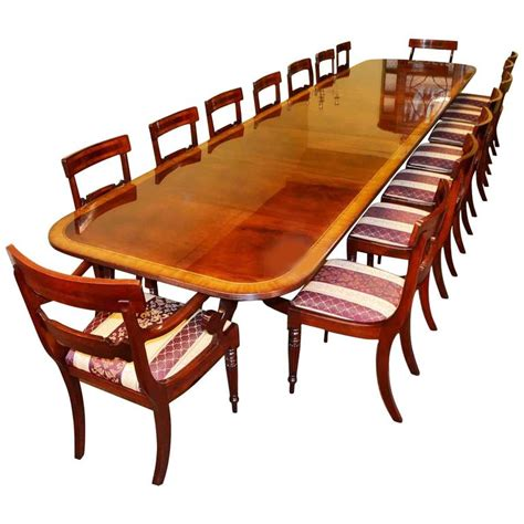 Regency Dining Table And Chairs Regency Dining Table And 16 Chairs Mahogany For Sale At 1stdibs