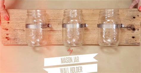 diy decorations with jars diy jar wall organizer
