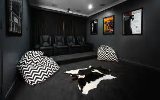 Garage Floor Paint Designs cinema room home theater contemporary with movie posters