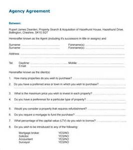 Agency Agreement Letter Format Sle Agency Agreement Template 9 Free Documents In Pdf