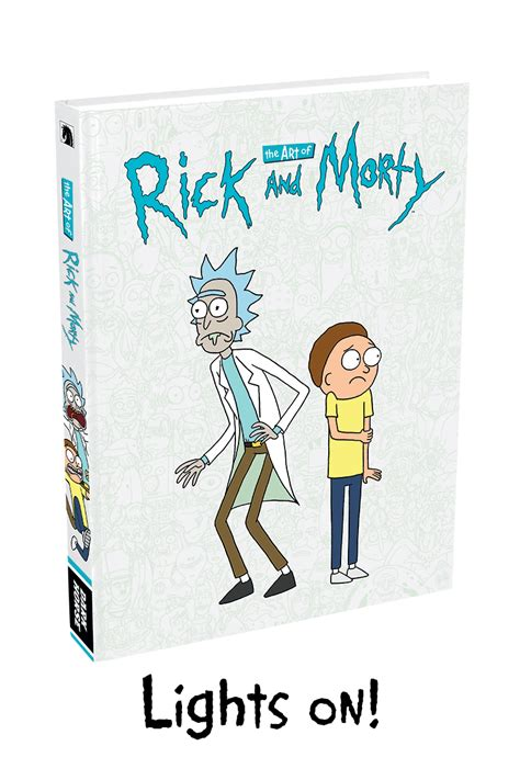 the art of rick the art of rick and morty glow in the dark cover new art pages revealed ign
