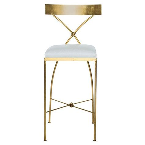 Gold And White Stool by Gold Leaf Bar Stools And Stools On