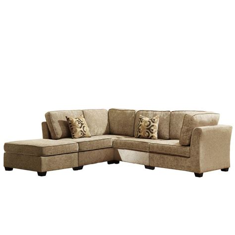 chenille sectional homesullivan modular chenille 5 piece sectional in beige