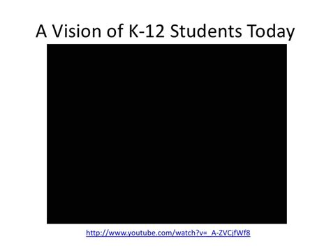 a vision of students today youtube telecommunications in the conceptual age