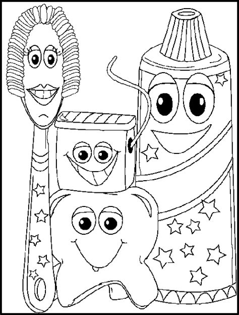 is for dentist coloring pages dental tools coloring pages