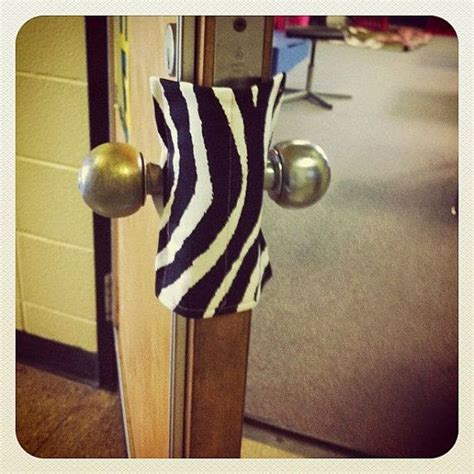 Locking Door Knob Covers by Use Fabric And Elastic To Make A Lock Cover For Your Door Fits Both Door Knobs And Will