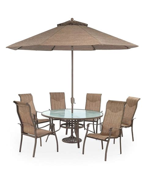Macys Patio Dining Sets Oasis Outdoor Patio Furniture 7 Set 60 Dining Table And 6 Dining Chairs