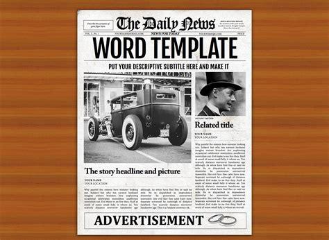 vintage word newspaper template flyer templates