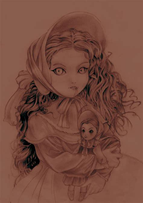 porcelain doll drawing broken porcelain doll drawing www pixshark images