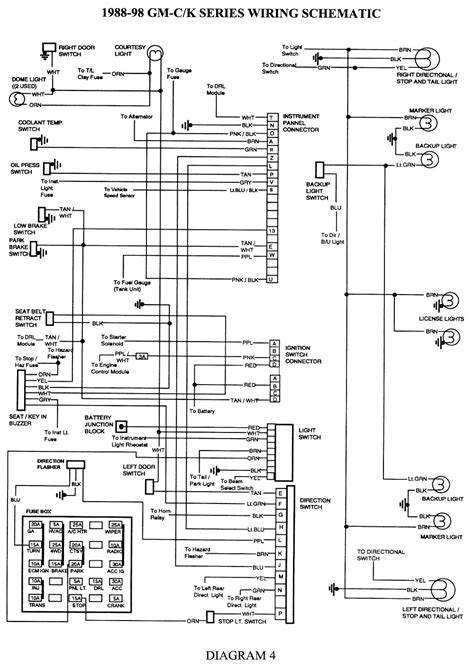 car service manuals pdf 2009 chevrolet tahoe instrument cluster wiring diagram 1997 chevy tahoe wiring diagram and schematics