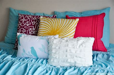 colorful bed pillows using colorful throw pillows for pops of color