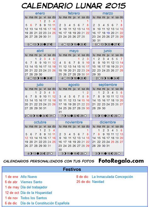 Calendario Lunar 2015 Calendario Lunar A 241 O 2015
