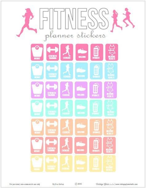 printable weekly stickers fitness planner stickers free printable download