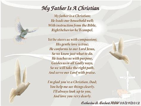 christian fathers day poem christian quotes and poems quotesgram